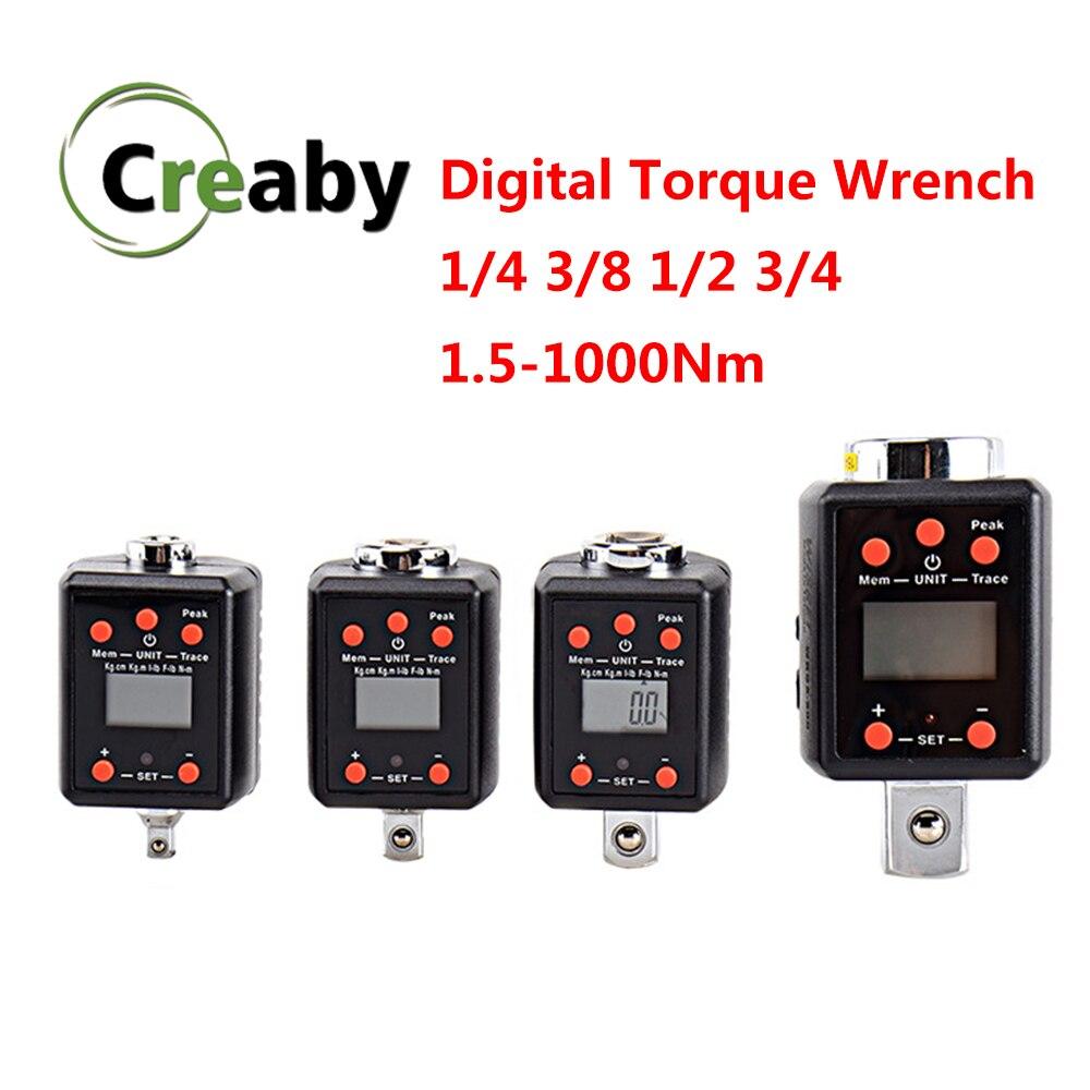 "Torque Wrench Digital 1.5-1000N.m Squre Drive 1/4"" 3/8"" 1/2"" 3/4"" Mini Torque Adapter Electronic Digital Torque Meter"
